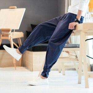 Мужские штаны в японском стиле, костюм самурая, винтажные мужские брюки, винтажные штаны-шаровары размера плюс, кимоно-юката, уличная одежда