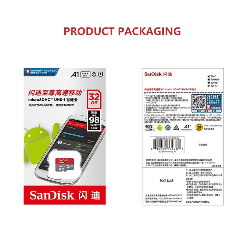 Micro SD карта памяти SanDisk, 32 ГБ, 64 ГБ, 128 ГБ, 200 ГБ, 256 ГБ, 400 гб-5