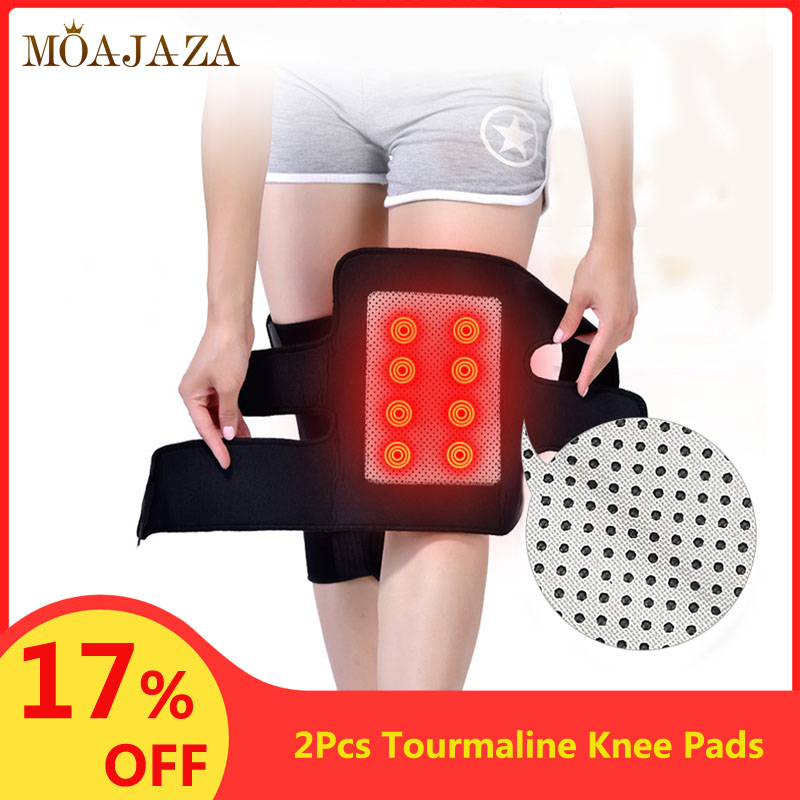 2Pcs Tourmaline Knee Pads For Knee Pain Relief Articulated Knee Brace Support At Arthritis Magnetic Therapy Self Heating Belt