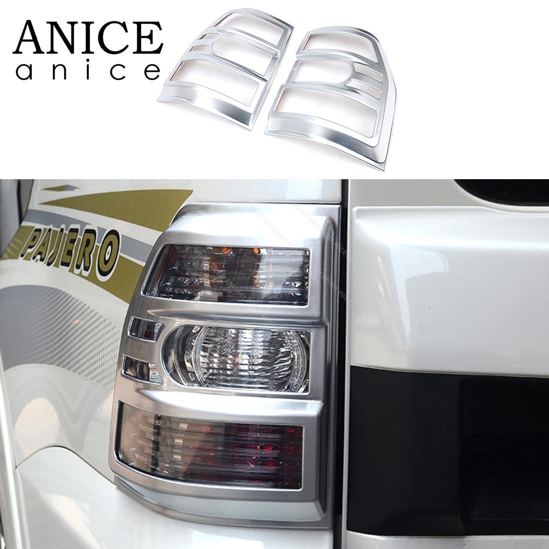Комплект из 2 предметов хвост светильник задняя крышка лампы для Mitsubishi PAJERO 2007 2008 2009 2010 2011 2012 2013 2014 2015 2016 2017 2018 2019-in Наклейки на автомобиль from Автомобили и мотоциклы