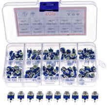 100pcs/box 10Kinds RM063 Horizontal Trimpot Potentiometer Assortment Kit
