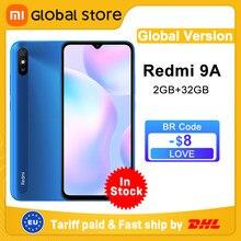 Versão global xiaomi redmi 9a telefone móvel 2gb 32gb rom mtk helio g25 octa núcleo 6.53