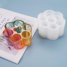 Полимерная форма 6 решеток круглая коробка для хранения помады