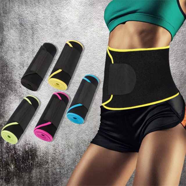 Sports Waist Weight Loss Sweat Band Wrap Fat Tummy Stomach Sauna Sweat Belt Running Gym Fitnes Exercise Elastic Waist Belt