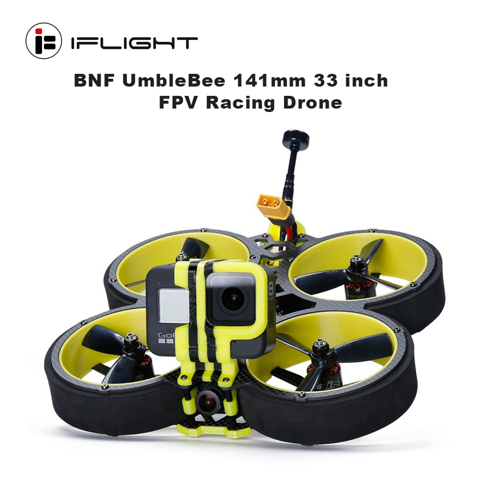 iFlight BumbleBee 142mm 3inch <font><b>4S</b></font> 6S CineWhoop BNF with XING 1507 <font><b>motor</b></font>/SucceX-E F4 FC/40A ESC/3045propeller for FPV Racing drone image