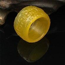 Зеленый нефрит кольца желтый Агат ручной резной нефрит кольцо для мужчин и женщин Рубин нефрит бренд ювелирные изделия кольцо добавить сертификат