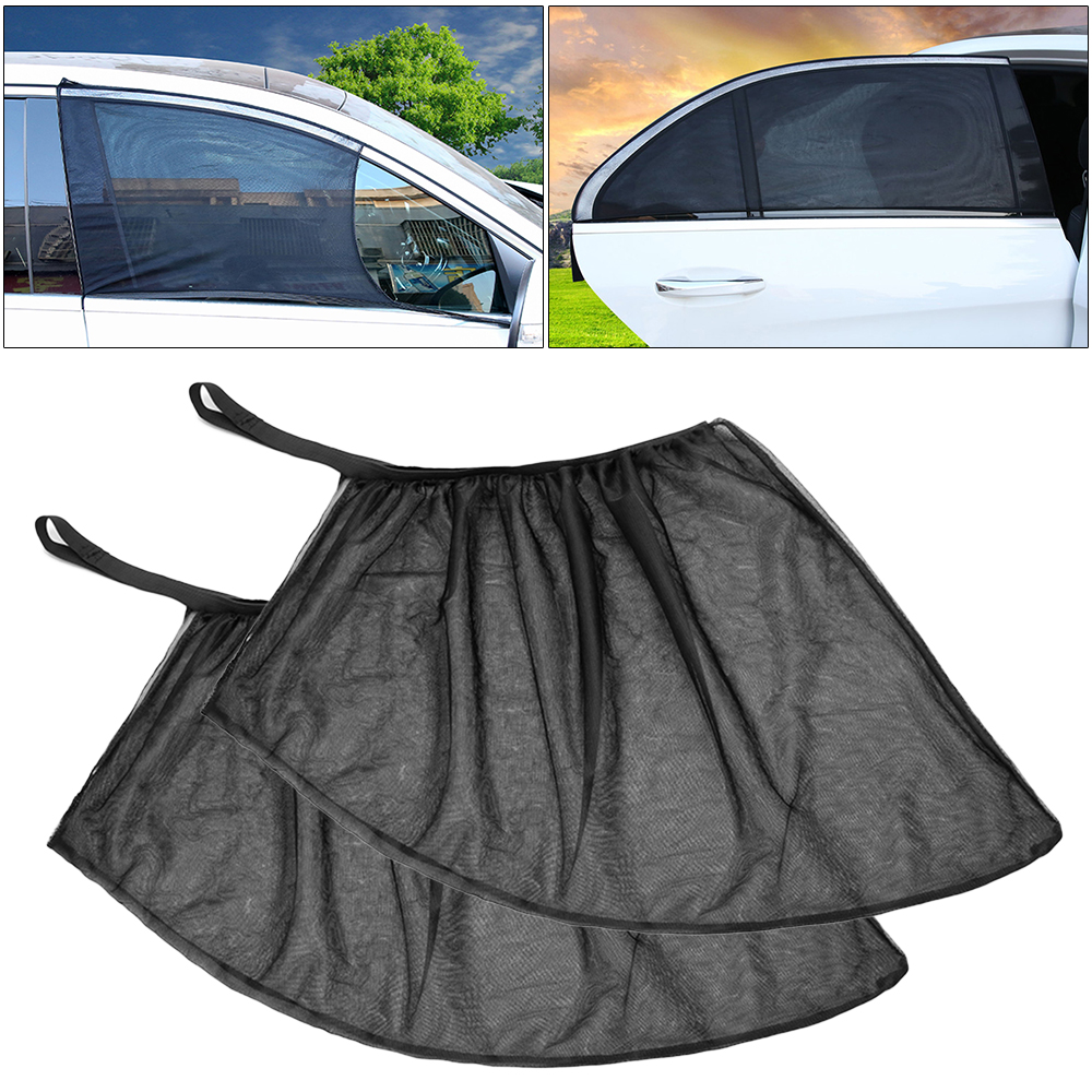 2PCS/Lot Car Side Window Visor Shade Mesh Shield Sunshade Visor Net Mosquito Repellent UV Protection Anti Mosquito Window Covers