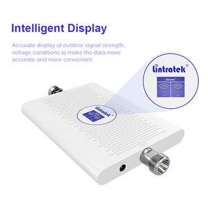 Image 2 - Lintratek 70dB Repetidor 850 1900MHz AGC Amplificador 2G 3G 25dBm Signal Booster CDMA 850MHz 3G 1900 verstärker Dual Band Repeate