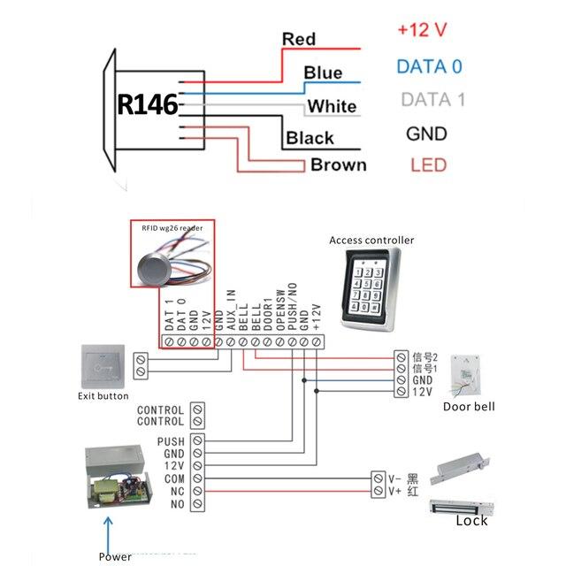RFID lecteur Dito wiegand26   mini système didentification, contrôleur di accès, système de télécommande + 2 pièces de clé