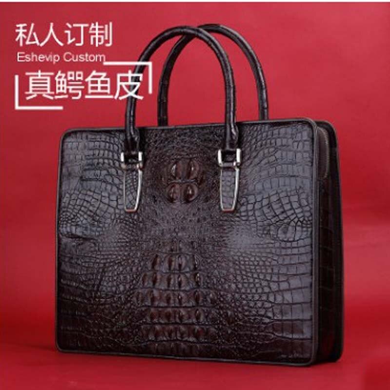 ourui new Hot style  true  crocodile  male  A briefcase  business  handbag men bag