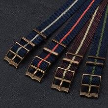 Premium Nato Zulu Watch Strap 20 mm Nylon Watch Band 22mm Replacement Bracelet Watch Straps Fort-udor Black Bay Nato Watch Bands