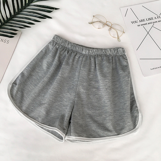 Zogaa Summer Street Casual Female Stretch Shorts Contrast Elastic Waist Correndo Shorts Mid Waist Causal Cotton Sexy Home Shorts 3