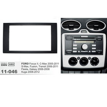 11-046 Mobil Radio Fasia untuk Ford Fokus II C-MAX S-MAX Fusion Fiesta Bingkai Kit 2005-2011 Dash Mount Kit Adapter Trim Panel(China)