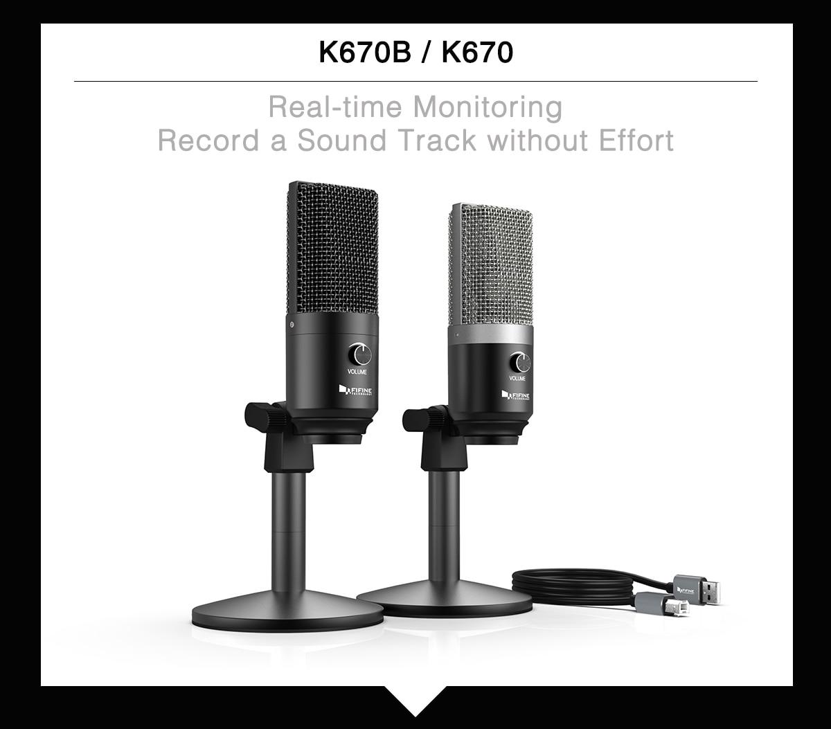 FIFINE Uni-Directional USB Microphone 1