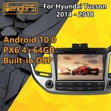 Für Hyundai Tucson IX35 2017 Android Radio Multimedia 2014 - 2018 GPS Navi Kopf einheit Kassette Recorder Auto Stereo DVD player PX6