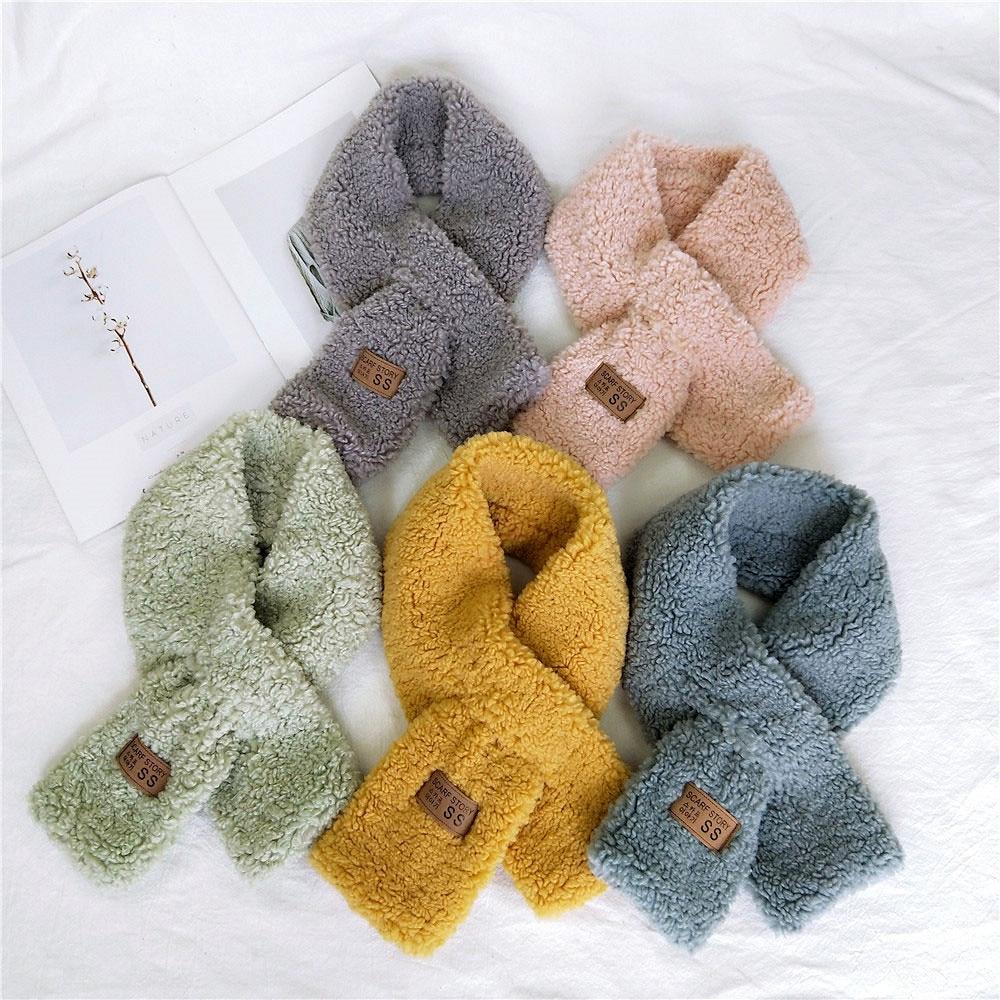 2019 New Solid Color Women Winter Faux Fur Cashmere Warm Collar Scarf Neckerchief Foulard Echarpe Neck Warmer Scarves For Ladies