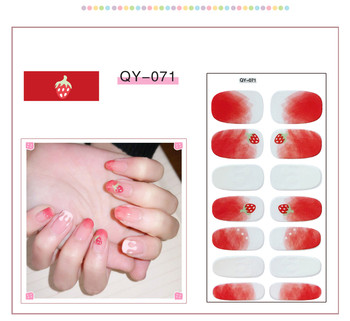 2021 New Winter Christmas Slider Nail Decals Nail Art Sticker Diy Manicure Water Accessory Transfer Foil Xmas Decorative Films image