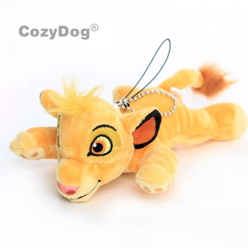 3 Styles Lovely  Cuddly  Lion King Plush Pendant With Keychain Mini Soft Toys Stitch Donald Stuffed Animals 8-11 Cm Gift