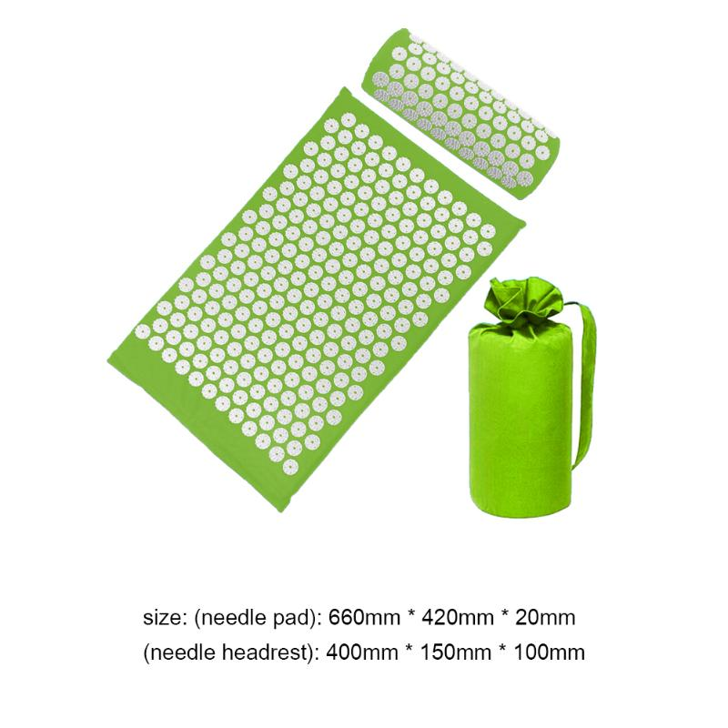 Acupressure Massage Mat with Pillow set to body Relaxation to Release Stress and Tension 32
