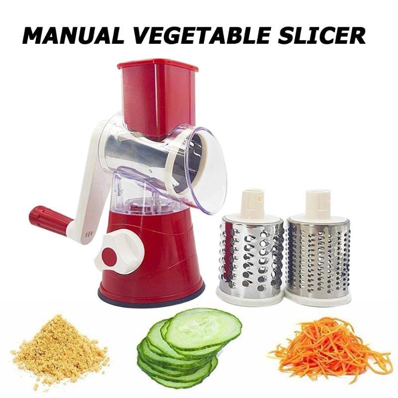 Multi-funcional Manual Cortador de Legumes Frutas Cortador Redondo Shred Ralador Trituradora de Processadores de Alimentos Da Cozinha do Agregado Familiar