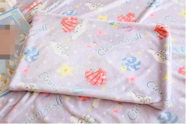 Candice guo q brinquedo de pelúcia fantasia roxo concha estrela cinnamoroll cobertor doce fronha menina cama decoração presente aniversário 1pc