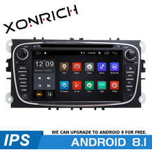 AutoRadio 2 Din Android 8.1 Car DVD Player For Ford Focus 3S-Max C-Max Mondeo 4 Galaxy Kuga 2008-2010 GPS Navigation head unit