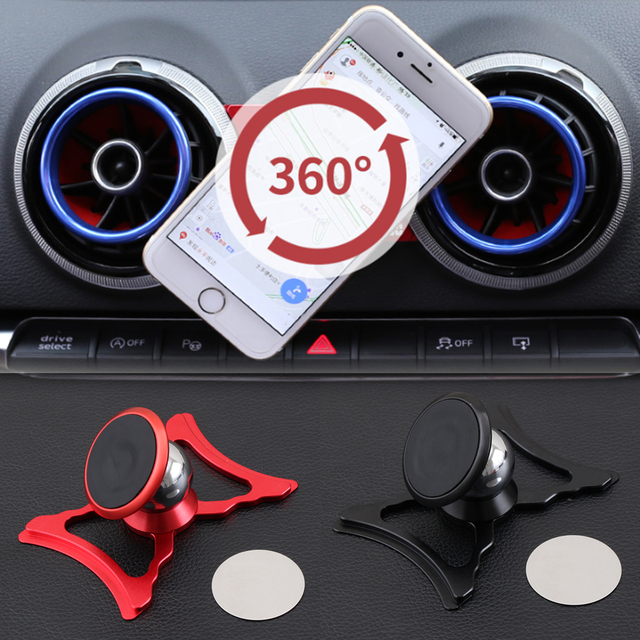 자동차 Audi A3 S3 8V 공기 벤트 마운트 자동차 스타일링 브래킷 GPS 스탠드 360 학위 Rotatable 지원 모바일 액세서리