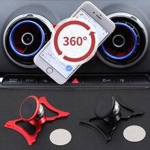 Suporte gps para audi a3 s3 8v, suporte giratório de 360 graus para saída de ar suporte acessórios móveis