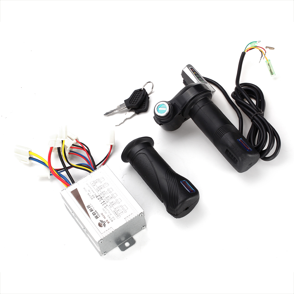 36V 500W Motorcycle Controller Brushed W/ Throttle Twist Grips Fit For 7/8 Inches(22.2mm) Electric Bike
