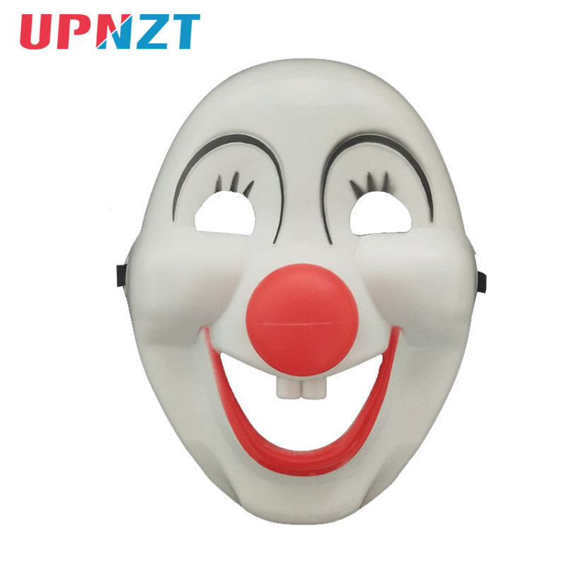 Children Cartoon Clown Mask Kids Adults Halloween Christmas Party Cosplay Whimsy Red Nose Clown Mask Gift Party Supplies Wedding