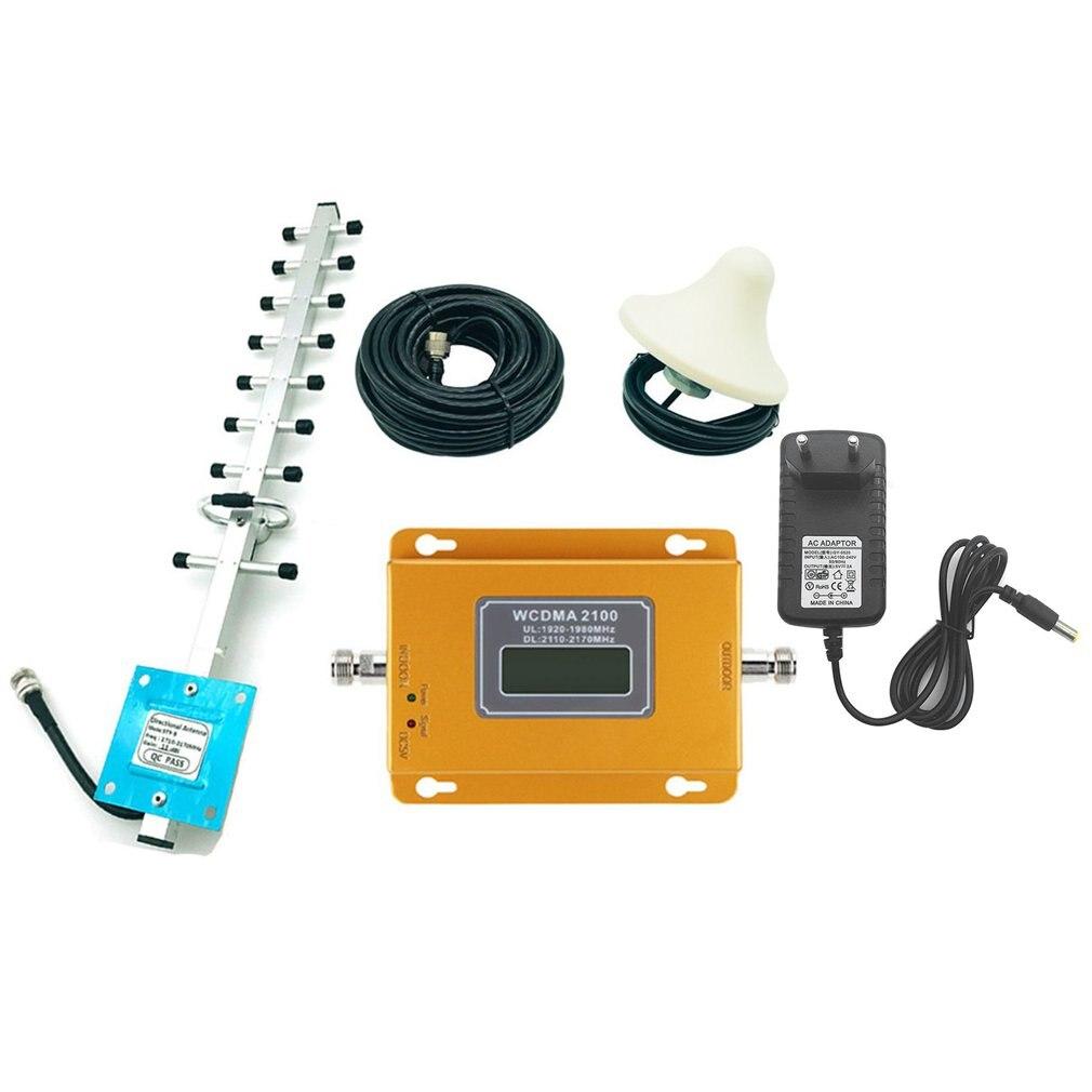 Amplificateur de répéteur de Signal de téléphone Portable CDMA 3G 4G 2100MHz LCD 3G avec prolongateur de Signal Portable aérien à Gain élevé