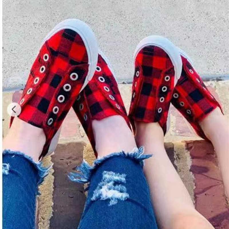 Thời Trang Dành Cho Nữ Áo Vulcanize Giày Kẻ Sọc Feminino Thoải Mái Giày Nữ Huấn Luyện Viên Thoáng Khí Zapatos Mujer