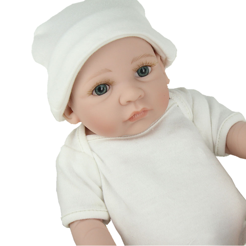 NPKDOLL 10 inch lifrlike bebe toy Mini Reborn Babies Boy Realistic Full Vinyl Handcraft Newborn Baby Doll Kids Christmas Gift Multan