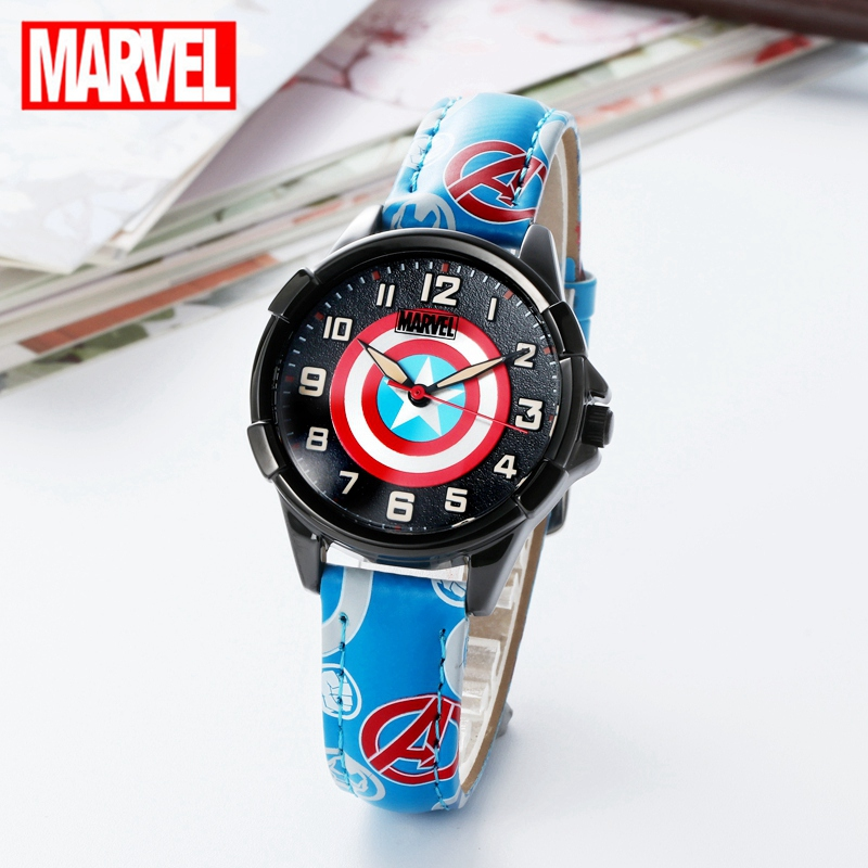 MARVEL Spider Man Watch Kid Men Waterproof Kids Watches Leather Quartz Clock Boy Gift Children Reloj Montre Relogio Kol Saati