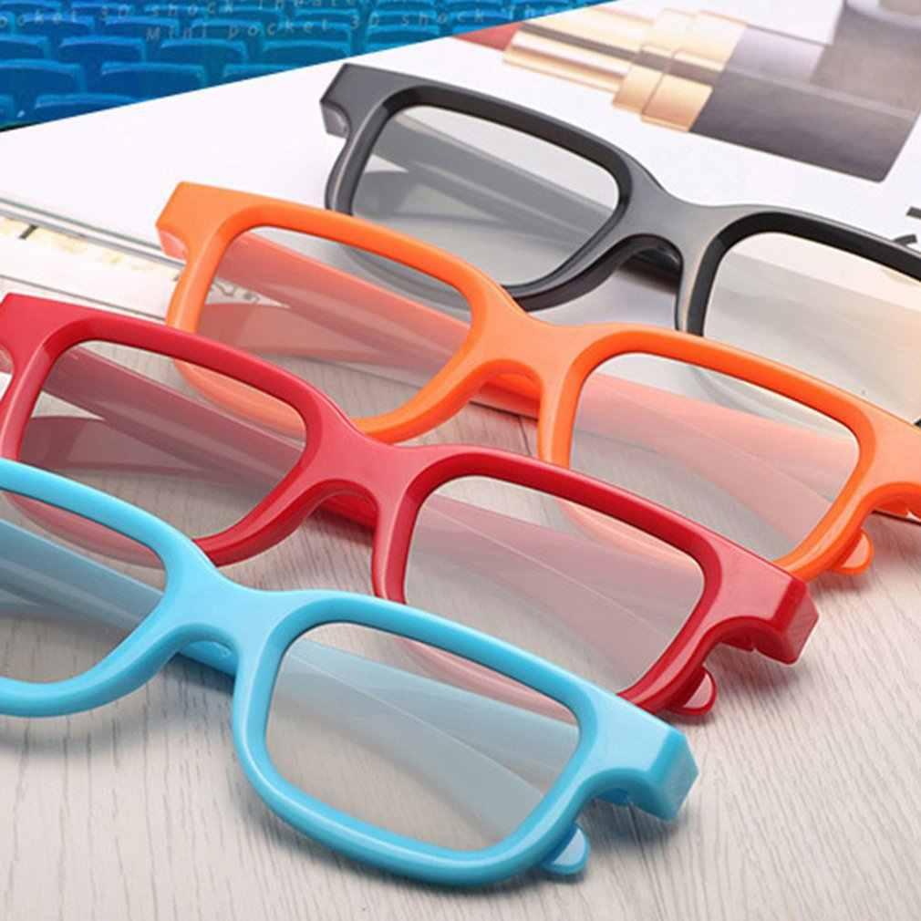 Universel passif circulaire 3D polarisé film lunettes unisexe ABS cadre stéréo pas Flash pour 3D TV cinémas