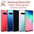 Samsung Galaxy S10 G973U G973U1 8 Гб оперативной памяти 128 ГБ ROM Восьмиядерный процессор Snapdragon 855 мобильного телефона NFC 4 аппарат не привязан к оператору со...