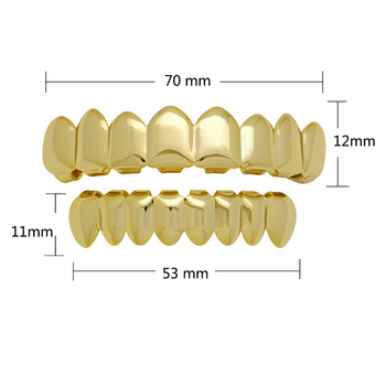 Teeth Grillz Set For Unisex Top Bottom Fashion Jewelry