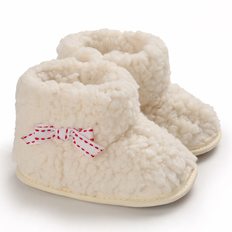 Baby Girl Shoes Newborn Baby Kid Girl Booties Soft Sole Snow Boots Winter Warm Fur Crib Shoes