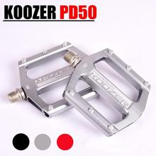 Mountain Bike Bicycle Pedals Cycling Aluminium Alloy Pedals Bicicleta Mountain Bicycle Pedal Flat XC TR AM FR DH KOOZER PD50 1 pair bicycle pedal mtb aluminium alloy mountain bike bicycle cycling 9 16 pedals flat black bike pedal bicycle parts