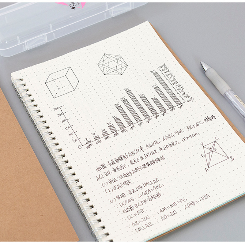Bullet Journal A5 Notebook Kraft Grid Dot Blank Line DoDrawing Daily Planner Agenda Stationery Management School Office Supplies