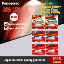 10 PÇS/LOTE 100% Genuíno Panasonic LRV08L-1B5C 12V A23 23A pilhas alcalinas/baterias de alarme