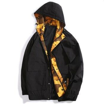 New large size men fat jacket embroidered single-breasted hooded casual jacket men loose zipper jacket men jacket