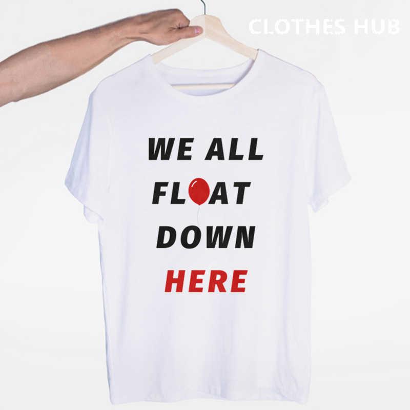 Es clown pennywise T hemd männer t shirt mode t-shirt O Hals weiß es kapitel zwei T-shirts Für mann Top tees