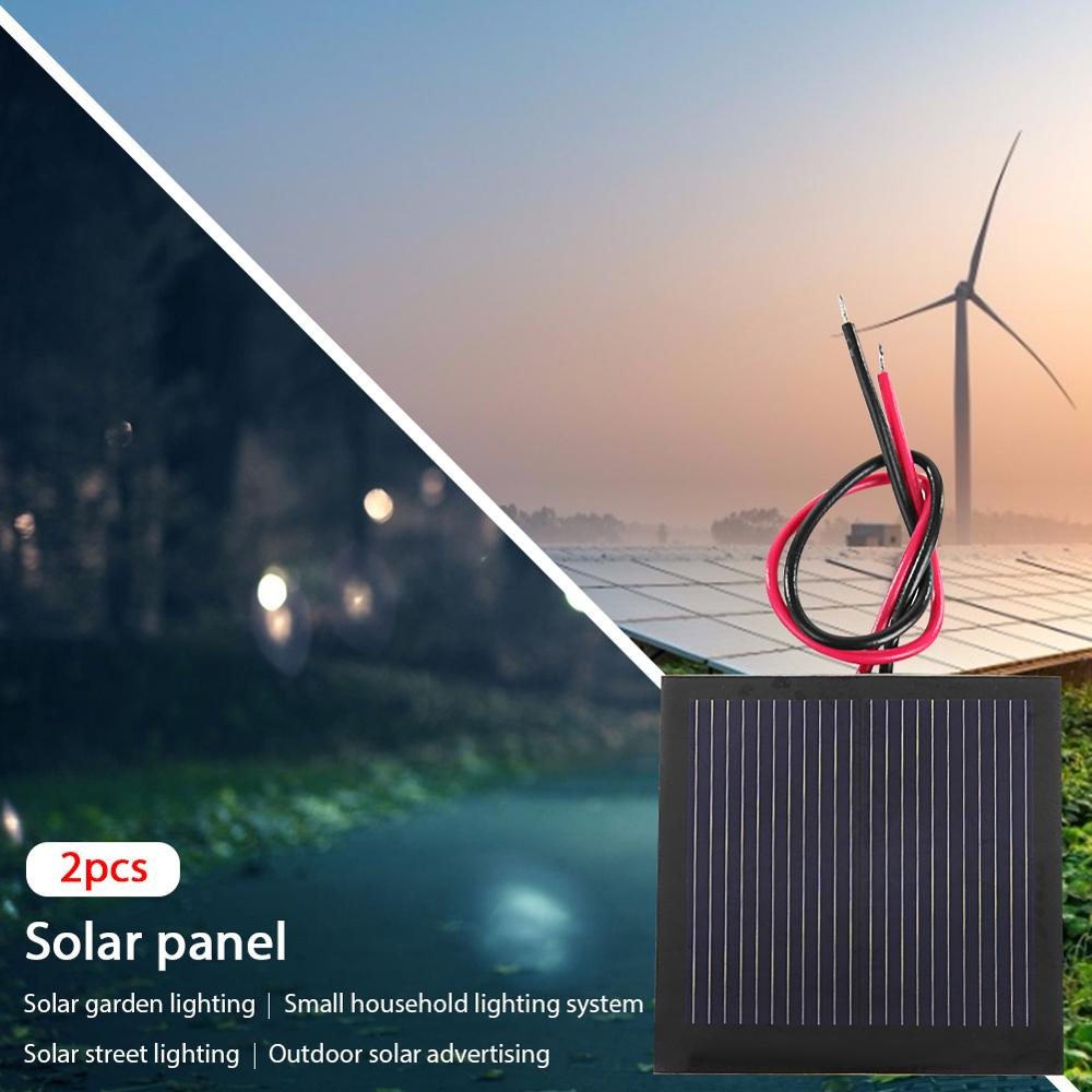 1V 200mA Mini Solar Panel Battery Polycrystalline Silicon Solar Cell +Cable/Wire 40x40mm 0.2W DIY for Solar Toy