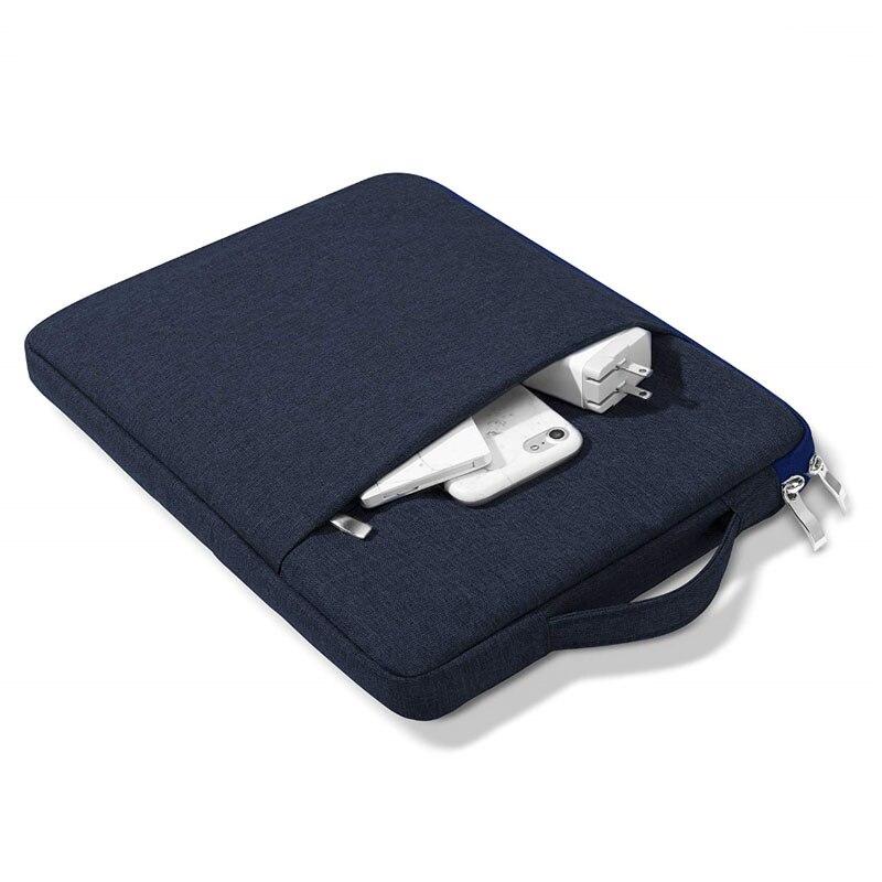 dark blue White Case For New iPad 10 2 8th 2020 Waterproof Zipper Handbag Sleeve Case For iPad 10