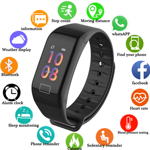 Image 2 - Smart Watch Wristband Blood Pressure IP67 Waterproof Wrist Band For Xiaomi Redmi 7 7A 6 6A 5A 5 Plus 4A 3S Note 7 6 5 Pro 4 4X 3