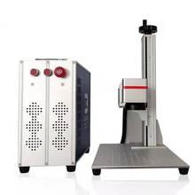 Fibra laser di marcatura macchina con il rotary 30W Raycus macchina per incisione in metallo di vendita diretta Della Fabbrica