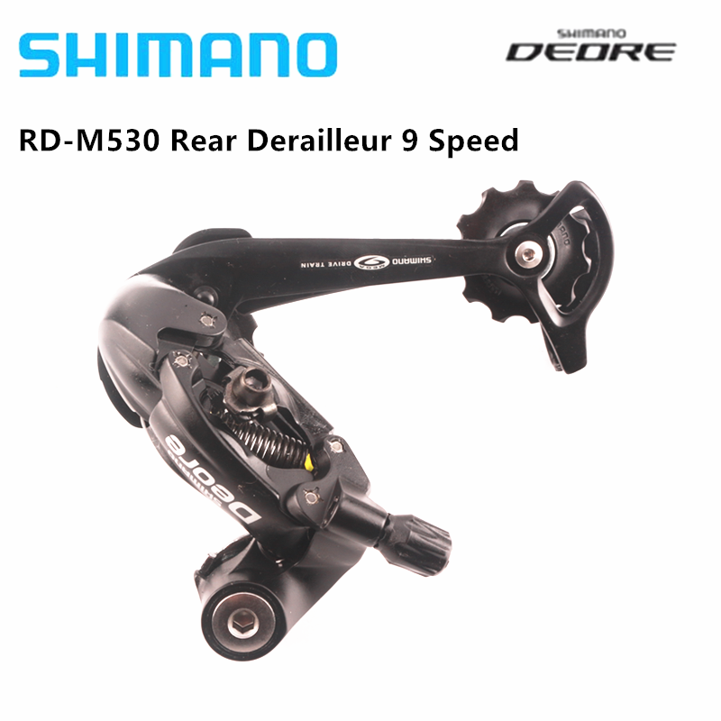 New Shimano Deore RD-M591 SGS 9-Speed MTB Bike Rear Derailleur Long Cage Silver