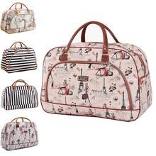 PU leather Women's Travel Bag Organizer Leather Print Hand Luggage Waterproof Women's Travel Bags Large Weekend Duffle  Bag