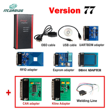 V77 Iprog Iprog Pro Programmer Support IMMO Mileage Correction Airbag Reset Key Programmer till the year